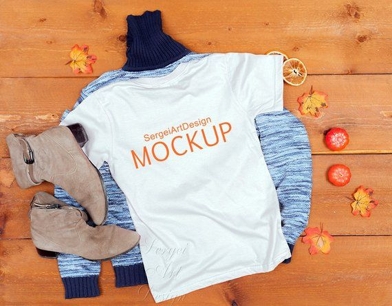 Download Blank White T Shirt Mockup Top View Fashion Styled Stock Etsy Shirt Mockup Clothing Mockup Mockup Free Psd