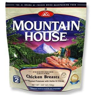 Mountain House #Food A mountain house food is a quick and tasty meal of mashed potatoes and grilled chicken breast that are cooked and flavored with herbs and chives.