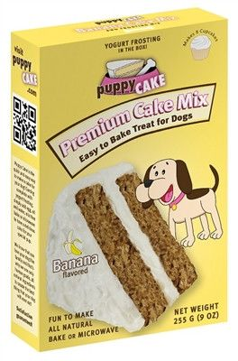 Puppy Cake Mix and Frosting - Banana Flavored