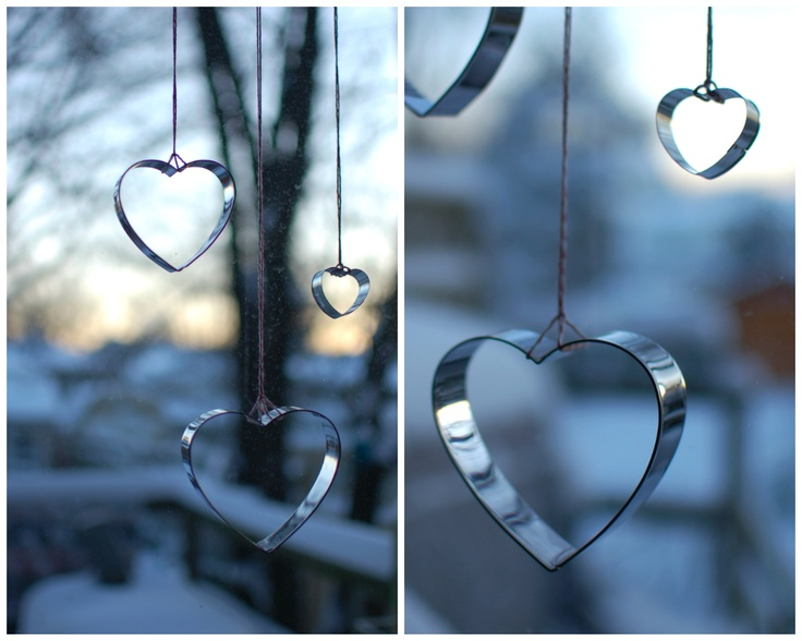 mint in the middle: for valentines hang heart-shaped cookie cutters in the window using (of course!) baker's twine ♥