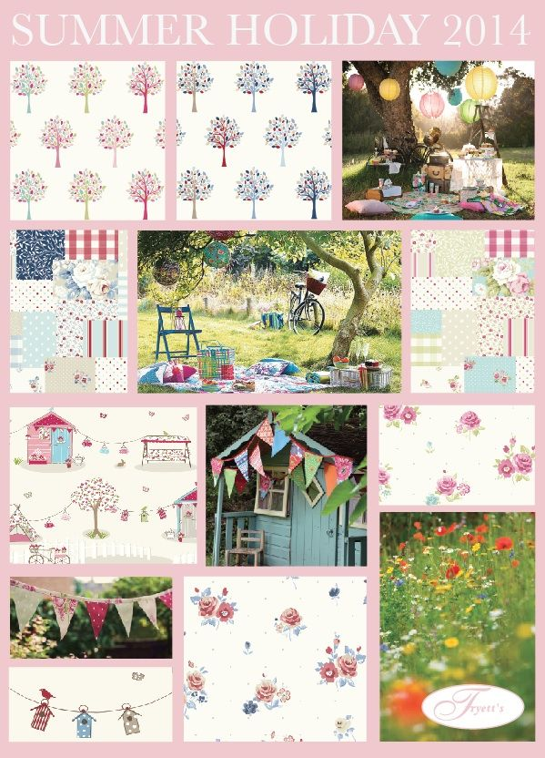 Fryett's: Fryett's Fabrics: This is our new novelty collection inspired by summertime and, childhood memories of carefree days spent playing in the garden and going on picnics