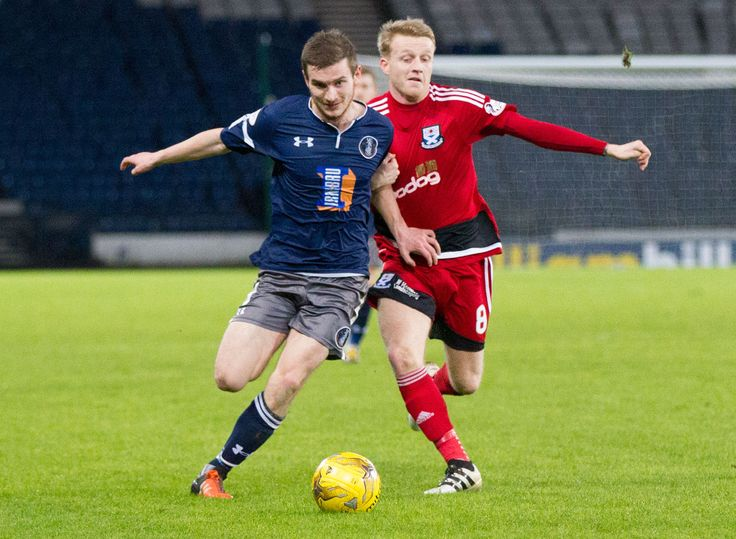 Queen's Park's Gregor Fotheringham in action during the Scottish Cup round 4 replay between Queen's Park and Ayr United.