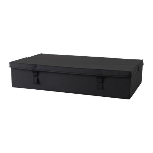 LYCKSELE Cajón almac de sofá cama 2 plz IKEA La caja tiene cabida para guardar cosas como ropa de cama y se puede poner debajo del sofá cama.