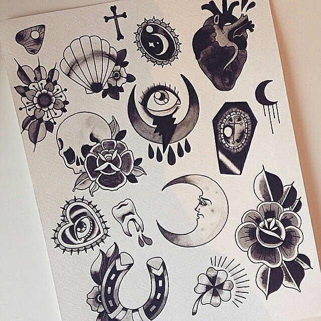 Best 25 traditional tattoo flash ideas only on pinterest for Small tattoo flash