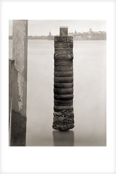 """""""Tyre Stack"""" is a fine art photograph by Jonathan Bourla.  Taken with a large format view camera similar to the plate cameras of one hundred years ago.  This limited edition photograph is printed on one hundred percent acid-free cotton rag paper with pigment ink.  To see more of Jonathan's photographs, go to www.jonathanbourla.com"""