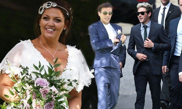 Louis Tomlinson was able to focus on more positive moments as he attended the wedding of his mother, Johannah Poulston on Sunday afternoon..