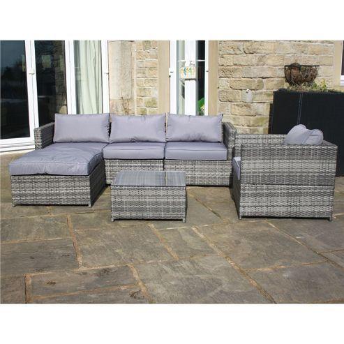 44 best grey rattan garden furniture images on pinterest. Black Bedroom Furniture Sets. Home Design Ideas