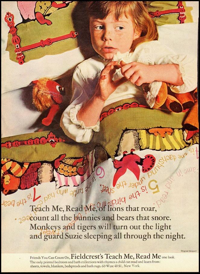 1966 Vintage Ad For Fieldcrest Blankets Bedspreads Teach