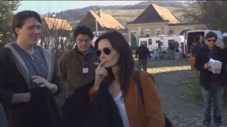 Actress Rebecca Calder on the Love By Design set with David Oakes + Michael Damian
