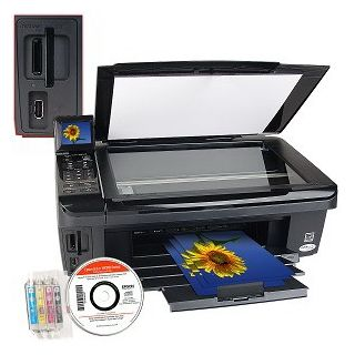 "Epson Stylus NX515 USB 2.0/Ethernet/PictBridge/802.11g Printer Scanner Copier Photo Printer w/Card Reader & 2.5"" LCD"