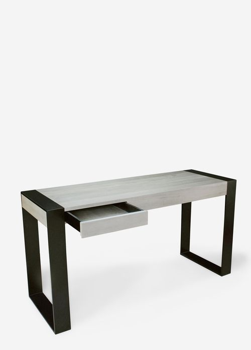 Modern steel and wood Desk by May Furniture Co.