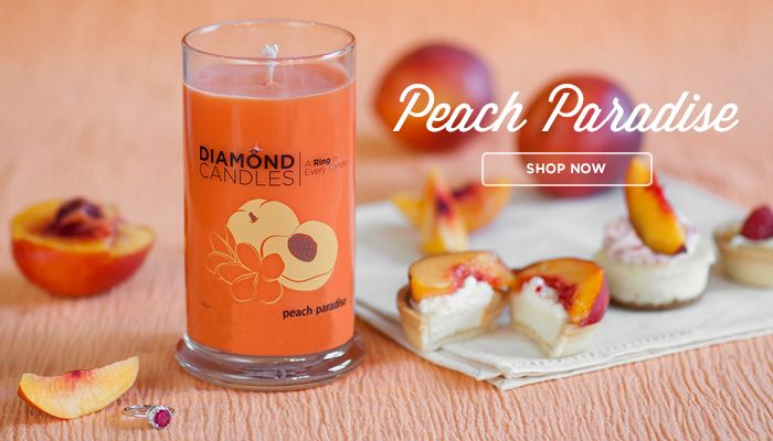 NEW SCENT: Peach Paradise! A delightfully fruity citrus scent with notes of juicy peach, white apricot, and pink grapefruit. The heart of the candle blends passion fruit and ginger orchid, finishing in a dry down of coconut vanilla.