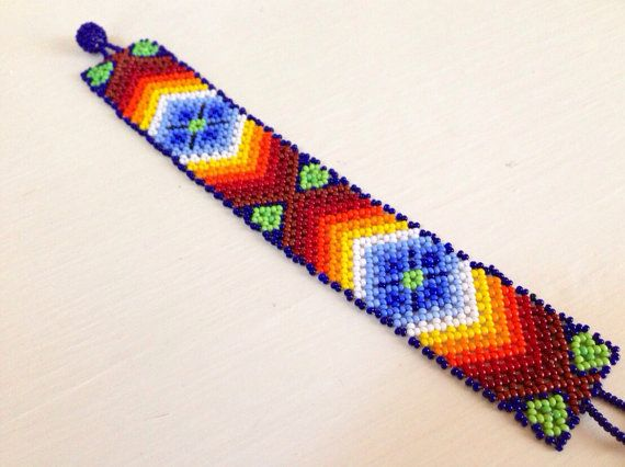 Huichol bracelet by DeannaBratt on Etsy