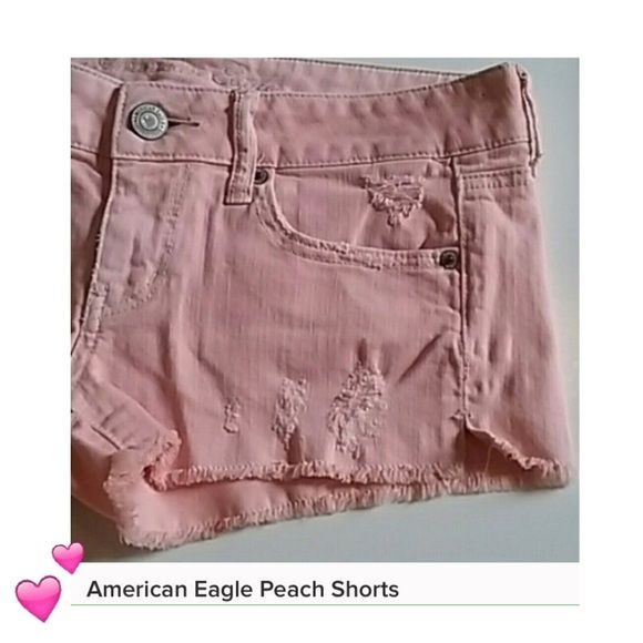 SUMMER SALE PRICE American Eagle Peach Shorts American Eagle Peach Shorts. Stretch Material. Gently loved. Cute for the beach. Great for any summer wardrobe! 98% Cotton, 2% Spandex. American Eagle Outfitters Shorts