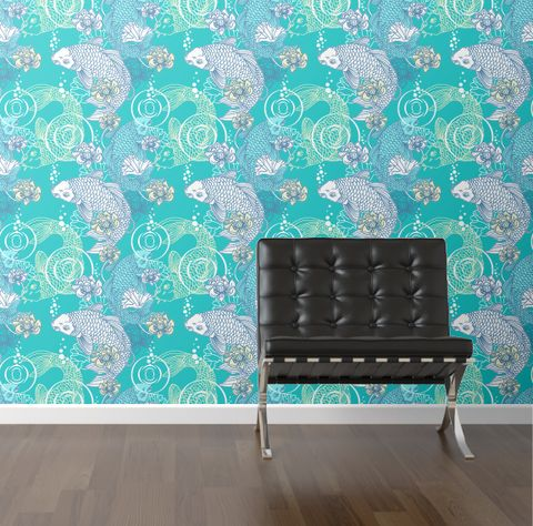 32 best wall images on pinterest murals wall paintings for Koi wallpaper for walls