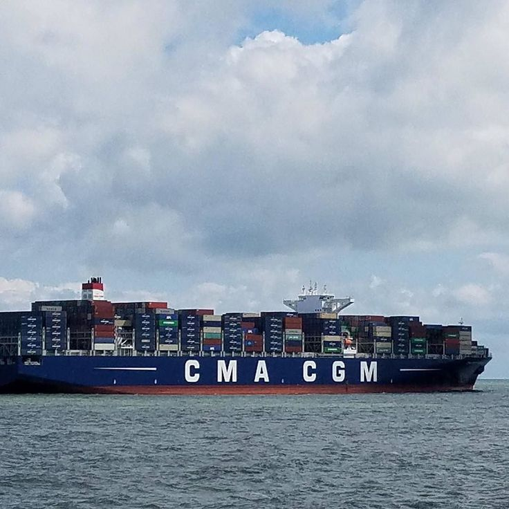 Laurie Barnett shared this picture of the CMA CGM Theodore Roosevelt the biggest ship to use the Panama Canal and to visit Hampton Roads.