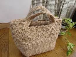 Hasil gambar untuk 麻ひも バッグ 編み図