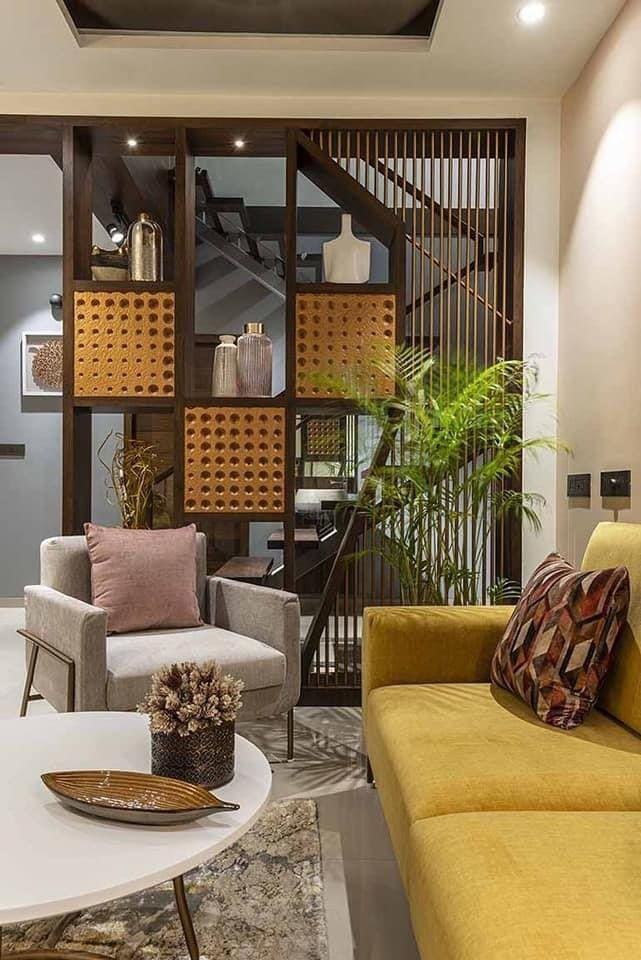ابتكارات منزلية On Twitter In 2021 Living Room Partition Design Living Room Designs India Room Partition Designs Living room decor ideas 2021