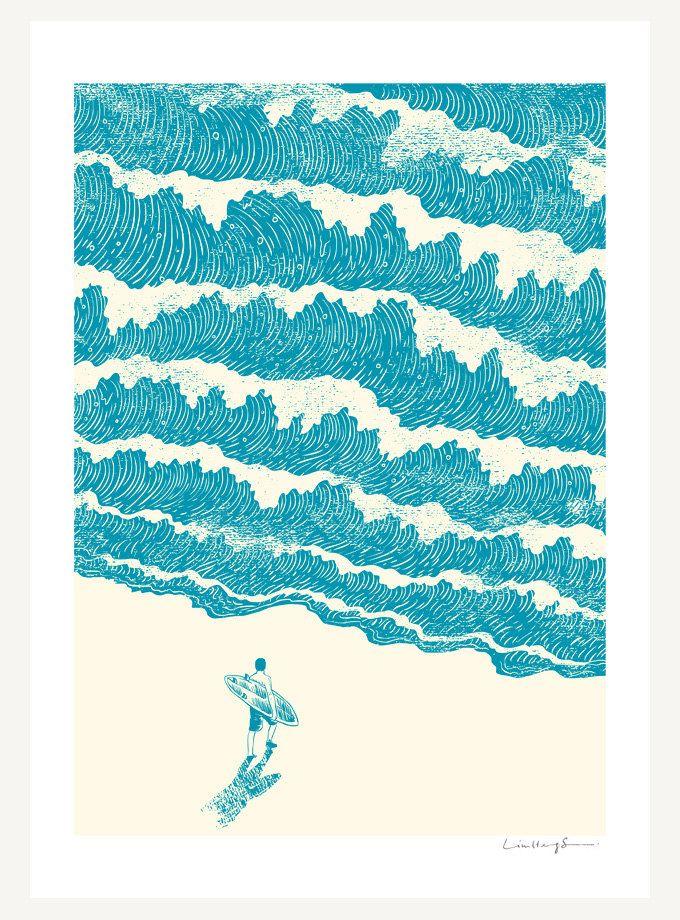 surf print