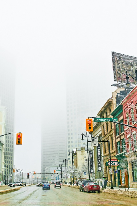 Fog in the City by Carla Dyck - shot in Winnipeg