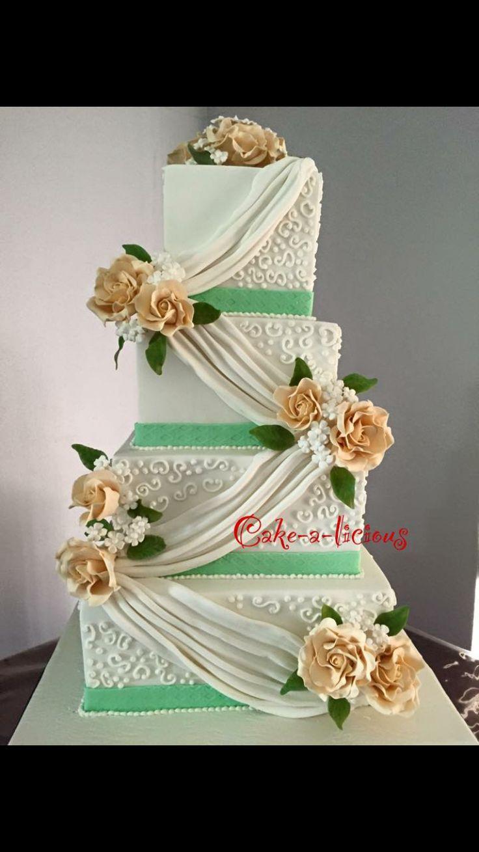 #weddingcake #cakealicious #cakewithroses