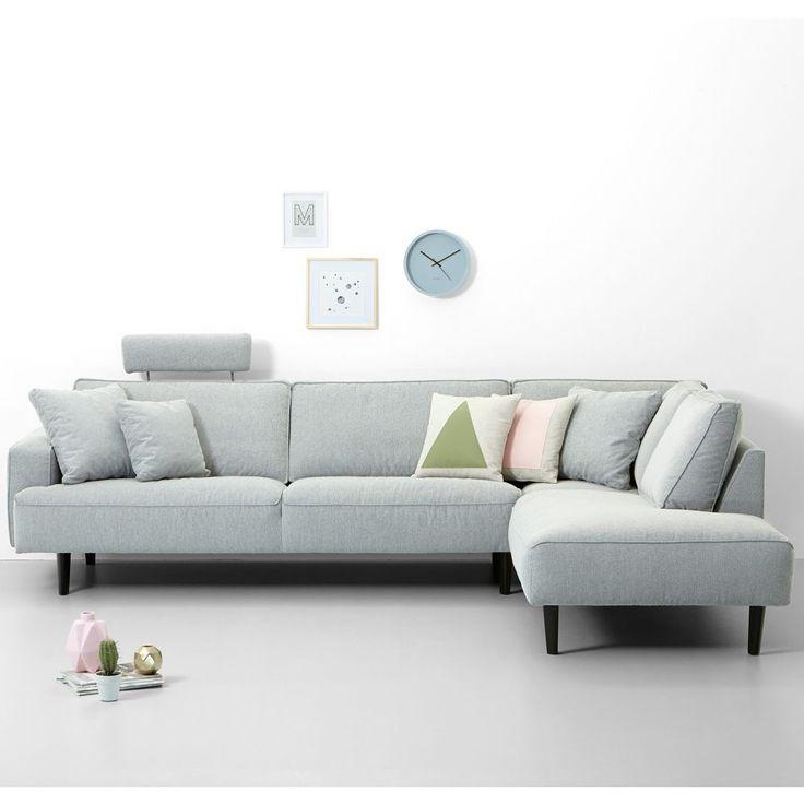 Meer dan 1000 idee u00ebn over Hoekbank op Pinterest   Chesterfield, Stoffen bank en Lederen sofa