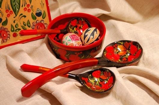 Деревянные расписные ложки # Russian wooden spoons