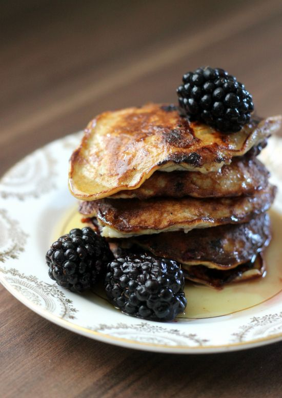 Use up black bananas with this healthy banana pancake recipe.  It's gluten free and refined sugar free too!