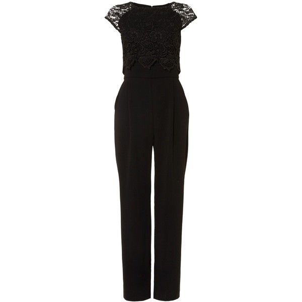 Phase Eight Cortine Jumpsuit ($175) ❤ liked on Polyvore featuring jumpsuits, cocktail jumpsuit, evening jumpsuits, short sleeve jumpsuit, holiday jumpsuits and jump suit