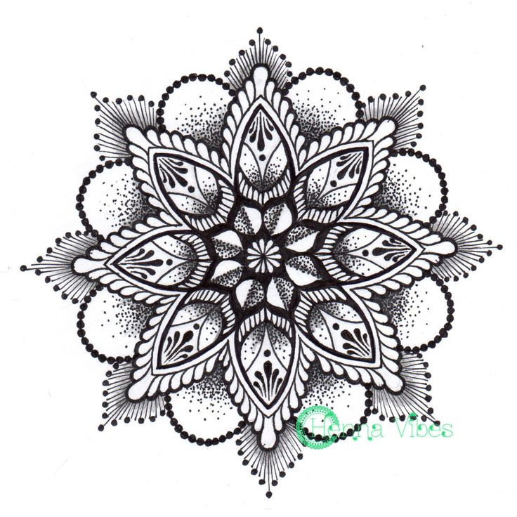 Mandala Dotwork Tattoo Designs