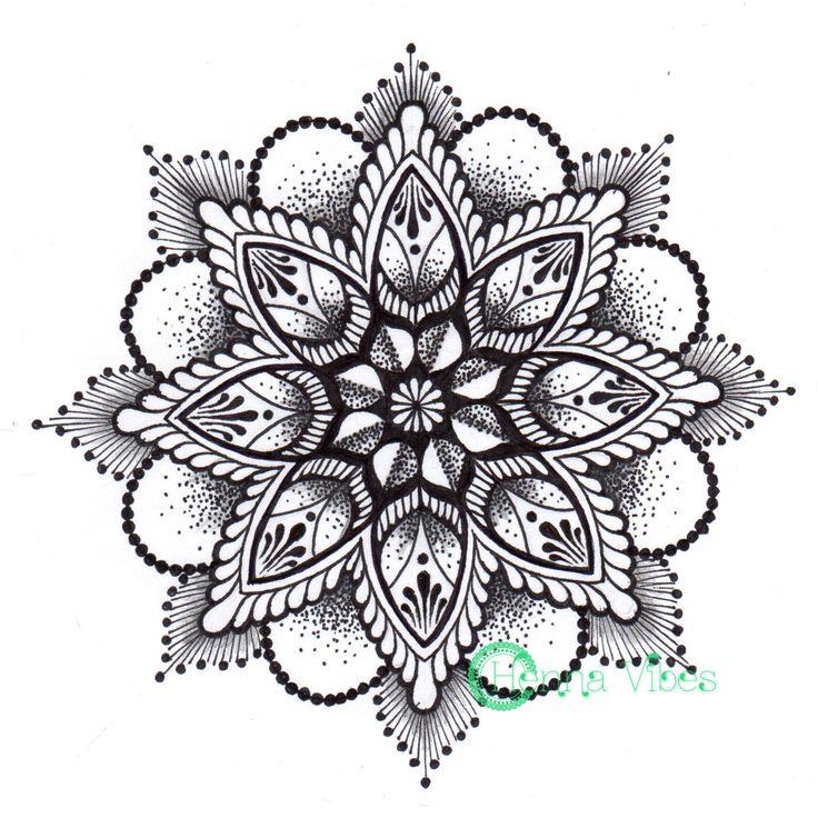 Dotwork mandala by Mish at Henna Vibes