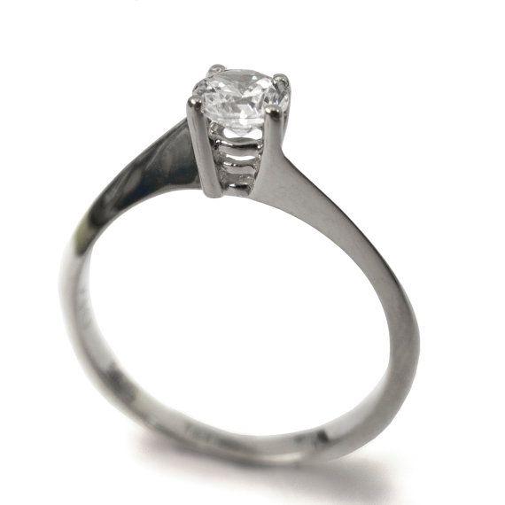 14k gouden ring  Verlovingsring Geel goud  door DORONMERAVCLASSICS