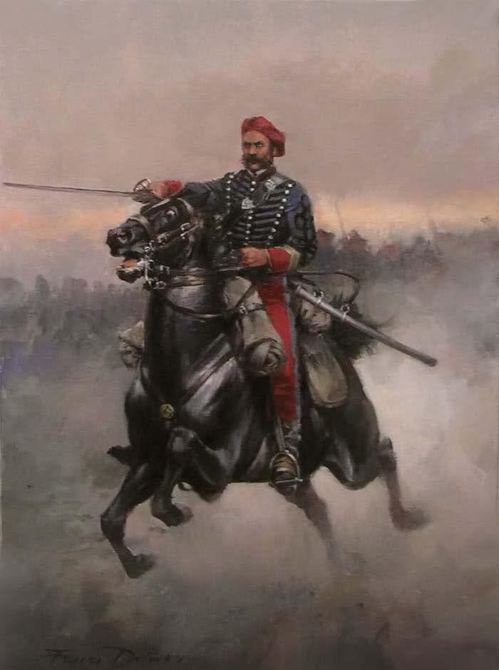 Oficial del Escuadrón de Cantabria 1872. Ferrer Dalmau. Más en www.elgrancapitan.org/foro