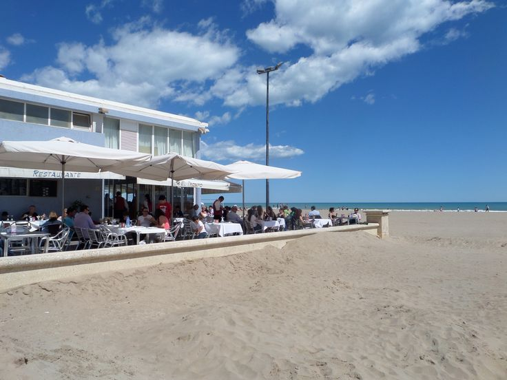 Afternoon caffee at Valencia beach http://www.cyclefiesta.com/cycling-holidays/valencia.htm