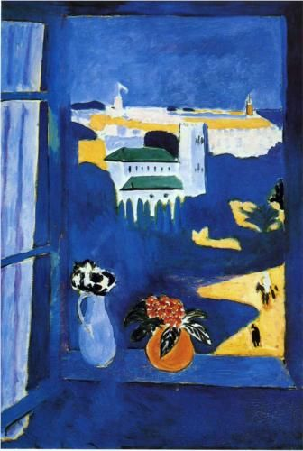 Matisse- Landscape Viewed from a Window - 1913. I designed my entire home office around the color of the orange vase -- which is more a mango color in person.  LOVE!