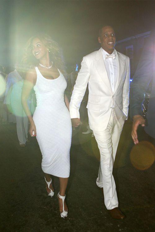 "beyoncefashionstyle: "" Beyoncé & Jay Z celebrating Solange's wedding (Nov. 16) """