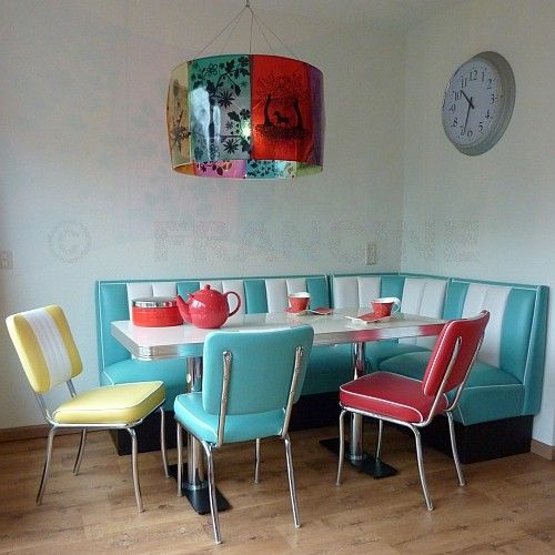 Bel Air diners...the perfect nook for the grands...I could hose this down and keep it clean!