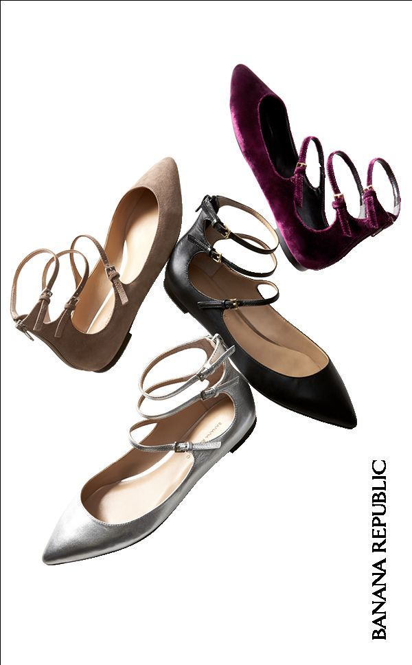Black flats? Neutral flats? Metallic flats? Velvet flats? Answer: The Abby. | Banana Republic