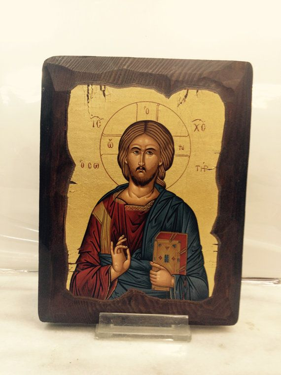 Jesus or Jesus Christ. Handmade in Hellas-Greece Dimensions: 14 × 18 cm / 5,51 × 7,08 inches