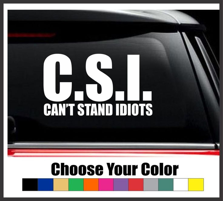 C s i cant stand idiots 6 vinyl decal sticker funny car decal