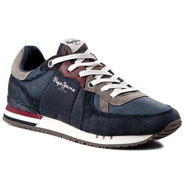Sneakersy PEPE JEANS - Tinker Basic PMS30147  Marine 585