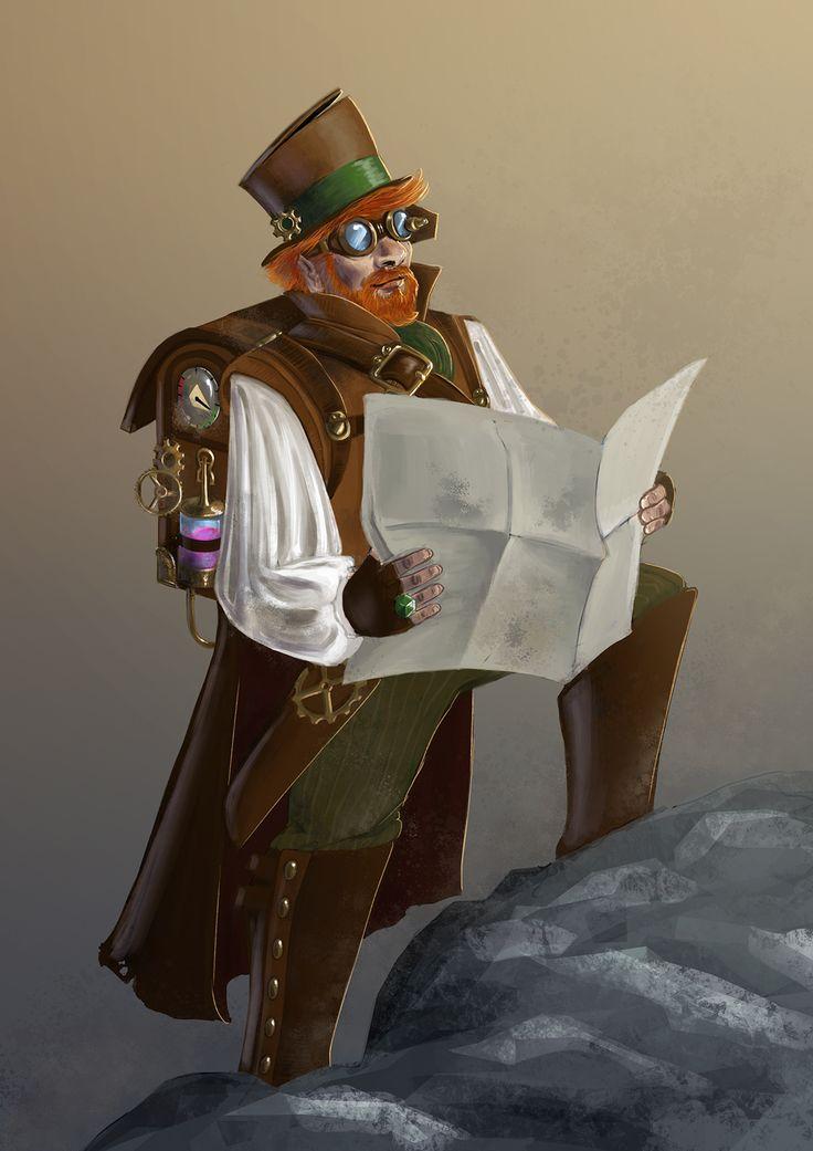 Steampunk explorer by Odrobinka.deviantart.com on @DeviantArt