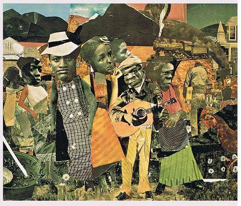 I've just discovered the collages of African-American artist Romare Bearden.