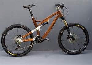 Full suspension mountain bike – hand made wooden Bikes.