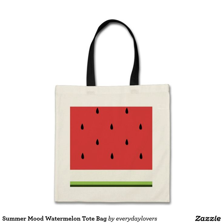 Summer Mood Watermelon Tote Bag