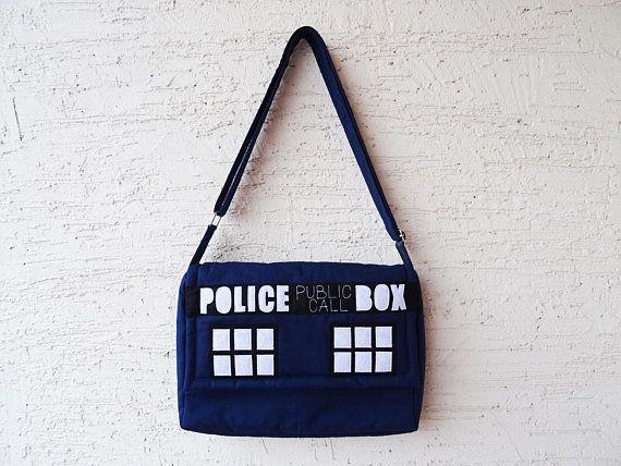Doctor Who Messenger Bag Police Box Bag Dr Who Blue Bag