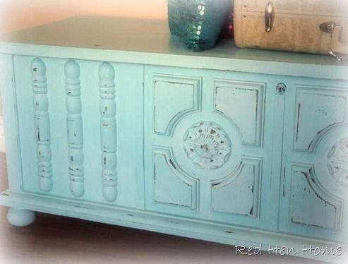 Cedar Chest with DIY Chalk Paint: Note to self: Of all the recipes I've seen, it seems like calcium carbonate might have the smoothest results.