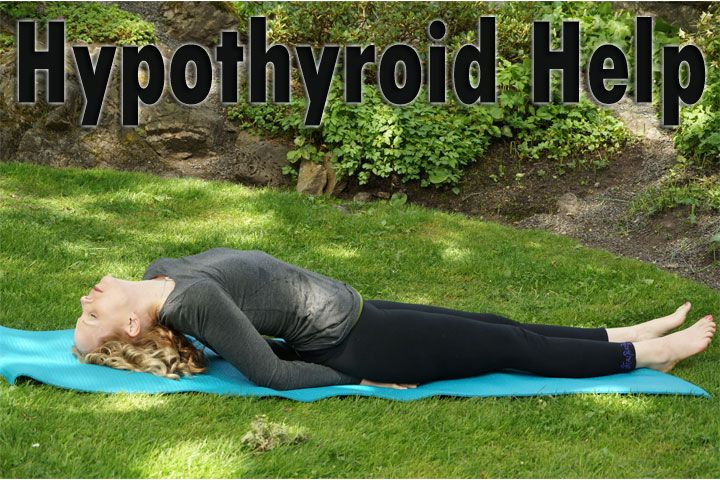 Today I will show you two yoga poses to stimulate an under-active by putting pressure on the thyroid gland. Help for your Hypothyroidism with yoga :)
