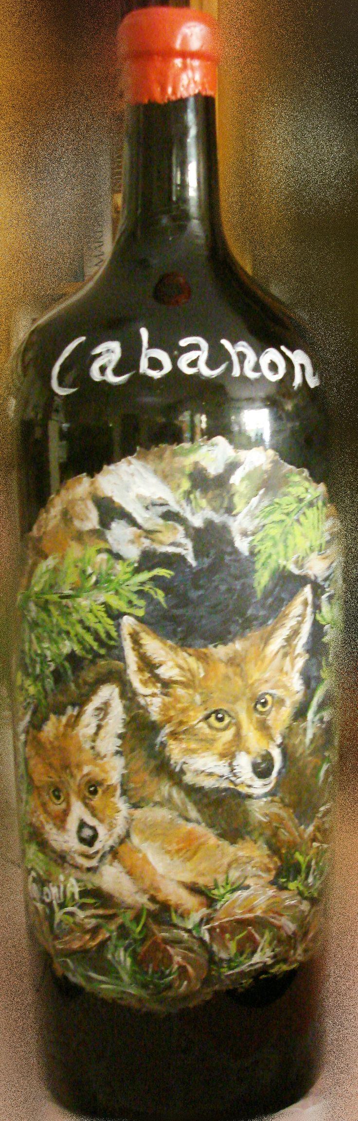 Painted for Art Vinique by Agnese Canopi. Wine: Cabernet Sauvignon by Fattoria Cabanon