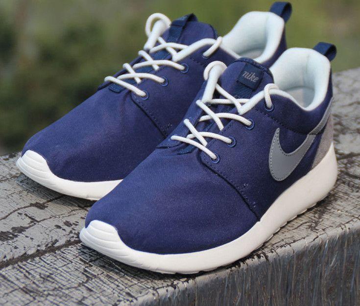 Nike Roshe One Retro Rosherun Blue Black Men Running Shoes Sneakers